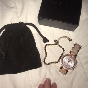 Michael Kohrs watch and matching bracelet